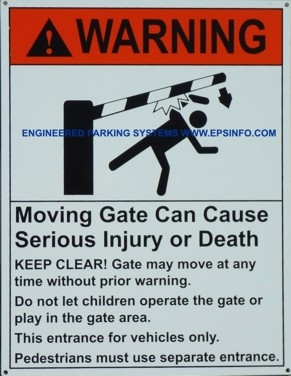 Gate Arm Warning Sign